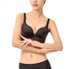fimage有致101827加厚无痕无钢圈文胸聚拢调整型小胸罩光面女内衣
