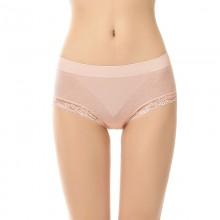 fimage有致102076女士蕾丝印花三角内裤舒服性感提花无缝中腰棉女裤头